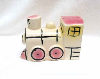 Train Bank Vintage 1960's  Ceramic