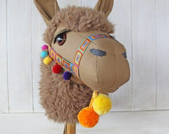 """Llama Ride-On Toy """"Cocoa"""" Brown Standard Size Ready to Ship"""