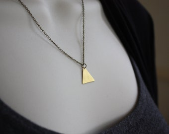 Triangle Necklace - Tiny Gold Triangle Necklace - Layered Necklace - Bohemian Triangle