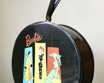 Vintage Barbie Carrying and Travel Case/Hat Box, 1961 Mattel