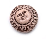 Sun Beads,  Pendant, 2pcs, 35x18mm,   Clay Beads, Large Round Disc, Sun Pendant -R142