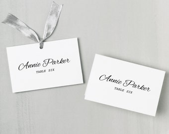 Printable Place Card Template | INSTANT DOWNLOAD | Calligraphy Escort Card | Editable Colors | Mac or PC | Word & Pages | Flat or Folded