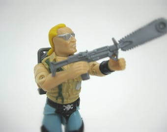 80's GI Joe Action Figure, Buzzsaw the Dreadnok, 1986 Hasbro Toy Line - Kids Toys, Collectible, GI Joe Figure with Weapons and File Card