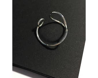 Simple Sterling Silver Circle Ring / Adjustable Ring
