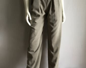 Vintage Women's 90's Donna Karan, High Waisted, Pants, Fully Lined, Tapered Leg (S)
