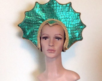 Oceanna Sea Goddess Headpiece Halloween Mardi Gras Cosplay Drag Queen Ready to Decorate