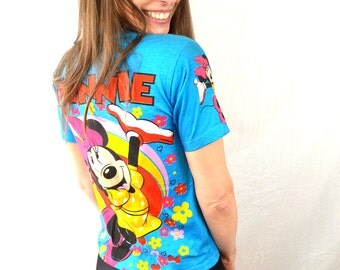 Vintage 80s Mickey Minnie Mouse Tee Shirt Tshirt - XS