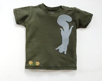 Baby Squirrel T-Shirt, Baby Shower Gift, Baby Boy
