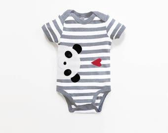 Baby Panda Bodysuit : Baby Boy,  Baby Boy Shower, New Baby Boy