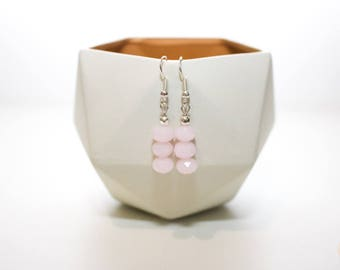 Baby Pink Drop Earrings.