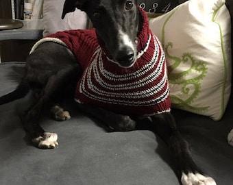 dog/ greyhound sweater knitting pattern PDF file ONLY!