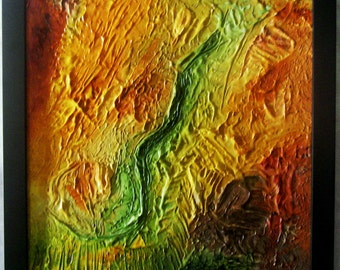 Dimensional Abstract Aerial Landscape Southwest Colors DAAL006SW