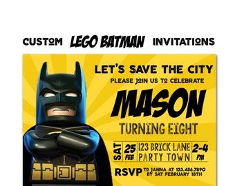 Batman Birthday Invitation, Movie Party Invitation, Superhero Invite Cards, Digital File Printable or Printed Invitation, Robin