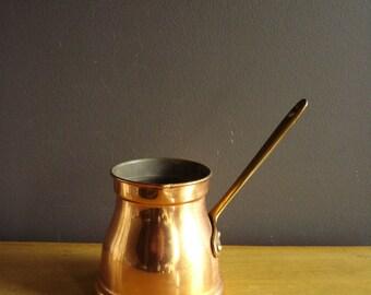 Bright Copper Dipper or Coffe Pot - Copper and Brass Pitcher Made in Portugal