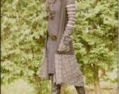 Jacket - Steampunk - Open Wrap Jacket - Hooded Sweater - Black - Open Jacket - Hooded Coat - Bohemian - Size Medium