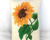 Sunflower pillow | Sunflower home decor | Summer decorations | Primitive sunflower | Vintage sunflower | Yellow sunflower | Sunflowers
