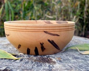 Wood Bowl, Maple Wedding Bowl, Serving Bowl, Centerpiece, Hand Turned, Maple Bowl, Maple Wood Bowl, Fruit Bowl, Kitchen Ware,