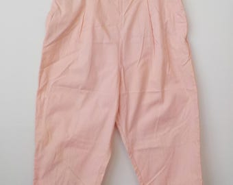 Vintage Ladies Peddle Pushers • Vintage Mid Century Ladies Pants • Vintage Pink Cotton Summer Abalene Shorts
