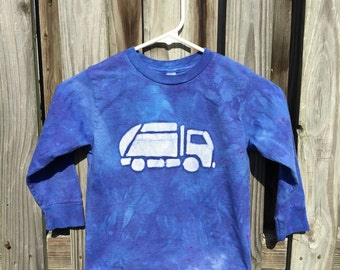 Garbage Truck Shirt, Blue Truck Shirt, Kids Garbage Truck Shirt, Kids Truck Shirt, Boys Truck Shirt, Girls Truck Shirt, Long Sleeves (4/5)
