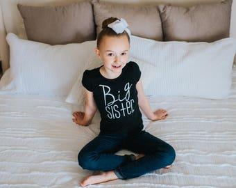 Big Sister tshirt | big Sis shirt | big sister tee | pregnancy announcement | big sisiter little sisiter | Paisley Prints original design
