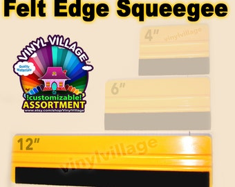 """12"""" Felt Edge Squeegee  adhesive backed Vinyl Appication Tool"""