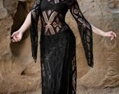 NEW: The Black Crochet Panel Dress by Opal MoonDesigns (Sizes XS-XXL)