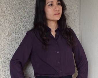 Country Sophisticates by Pendleton Purple Button Up Blouse
