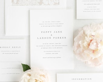Poppy Wedding Invitations - Deposit