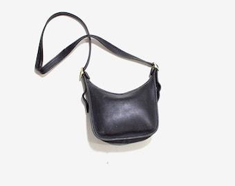 Vintage Coach Bag / Black Leather Coach Purse / Coach Janice Legacy Bag