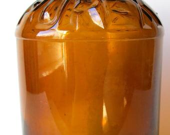 VINTAGE - 1920's Large Purex Bleach Bottle - Dark Amber