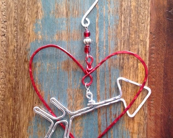 Heart and Arrow Ornament