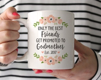 Godmother Gift Godmother Mug Godmother Gift for Best Friend Pregancy Reveal to Best Friend Pregnancy Announcement Baptism Gift Coffee Mug