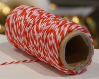 Red and White Twine / 36 Feet