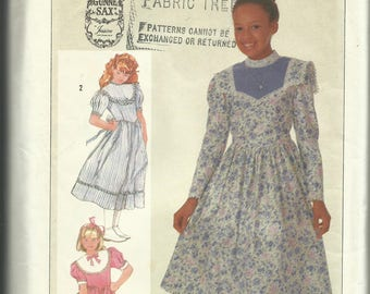 "Vintage 1986 Simplicity GUNNE SAX ""Jessica Dress"" Pattern 7401 COMPLETE - Girls Size 7"