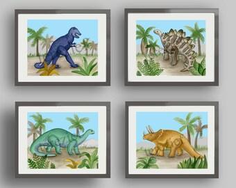 dinosaur nursery art, dinosaur pictures, dinosaur bedroom art prints, dinosaur art, dinosaur artwork, boys nursery art