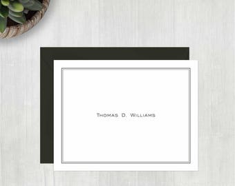 Personalized Stationery • Clean & Simple {FOLDED} • 10 Note Cards with Envelopes • Personalized Stationary • Personalized Thank You Notes