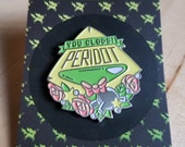 "Steven Universe Enamel Pin \ Peridot Lapel Pin \ ""You Clods!"" Peridot Pin"
