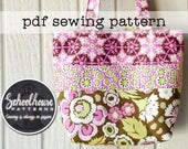 Patchwork Tote Bag handbag purse diaper bag - pdf sewing tutorial pattern -  PDF INSTANT DOWNLOAD