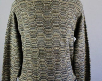 Mens Sweater. Pullover Sweater. Golf Sweater. Tribal Sweater. Fall Sweater. Vintage. Size Medium. GOGOVINTAGE