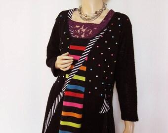XL  Dots and Stripes Dress