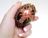 Easter egg with Cross traditional Ukrainian pysanka egg personalize this gift with words of love to your beloved ones significant other gift