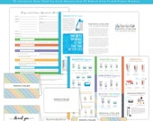 Rodan and Fields Business Kit - Preferred Customer Info Sheet / Business Card / Thank You / Preferred Customer Punch Card / Product Brochure