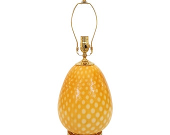 Murano Glass Lamp Butterscotch Cased Bullicante Hollywood Regency