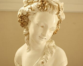 VIntage French Maiden Statue