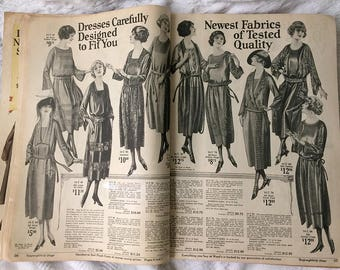 Vintage 1922 Catalogue  Montgomery Ward Catalog 1920s fashion 1920s home