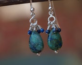 Chrysocolla and Lapis Earrings
