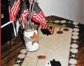 Wool Applique Pattern, Home Sweet Home, Wool Table Runner, Patriotic Decor, Americana,  Country Stitches, Brenda Gervais, PATTERN ONLY