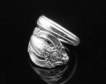 Victorian Decorative Spoon Ring, Silver Artistry 1965