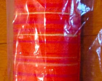 Saori silk ready made warp - - 200 threads x 6 meters - lovely peach!  Santa Claus