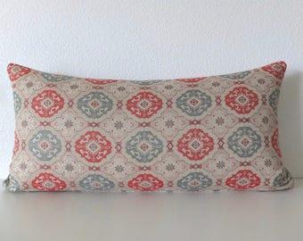 12x24 Laraby Medallion Fretwork Tile Pattern Pillow Cover